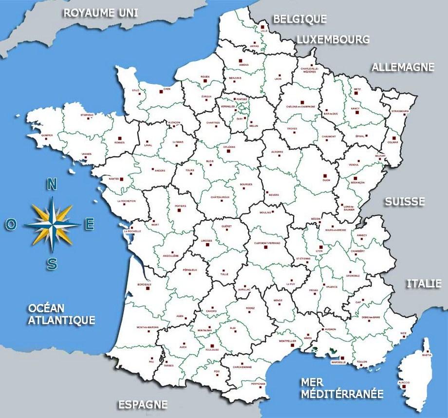 Carte De France Avec Principales Villes A Imprimer | popkensburg